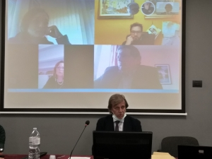 Il presidente Albano in video conferenza