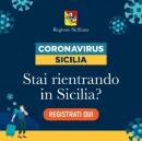 Coronavirus: rientri in Sicilia? registrati qui
