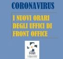 Coronavirus: i nuovi orari degli uffici di front-office